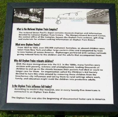 National Orphan Train Complex Marker image. Click for full size.