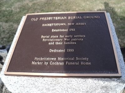 Old Presbyterian Burial Ground Marker image. Click for full size.