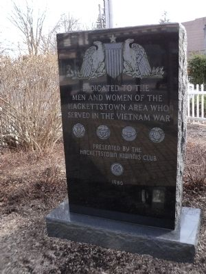 Hackettstown Vietnam Memorial Marker image. Click for full size.