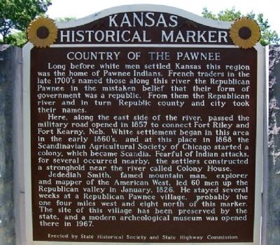 Country of the Pawnee Marker image. Click for full size.