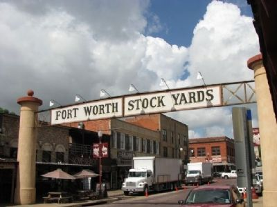 Fort Worth Stock Yards Entrance image. Click for full size.