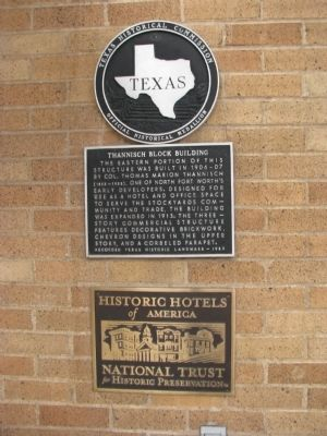 Thannisch Block Building Marker image. Click for full size.