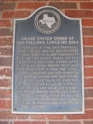 Grand United Order of Odd Fellows, Lodge No. 2144 Marker image. Click for full size.