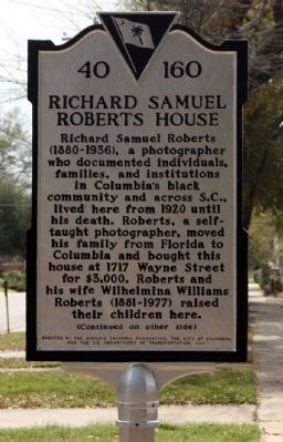Richard Samuel Roberts House Marker image. Click for full size.