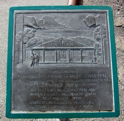 Martinez Troops-In-Transit Canteen Marker image. Click for full size.