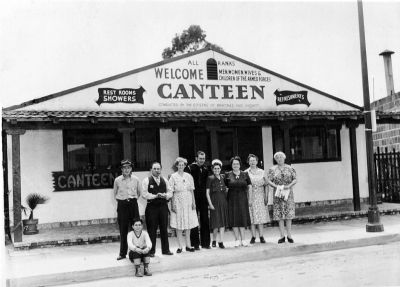Martinez Troops-In-Transit Canteen - period photo (image courtesy of the Martinez Museum) image. Click for full size.