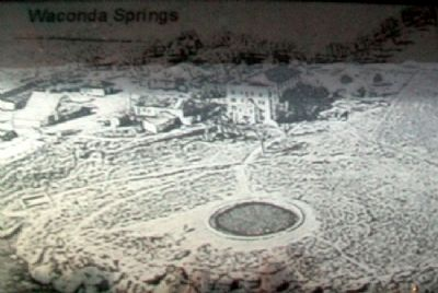 Historical Photo on Waconda Springs Marker image. Click for full size.
