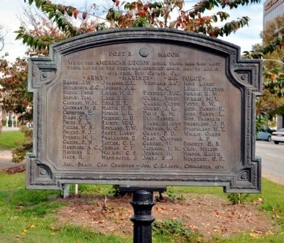 Post 3 Macon Marker image. Click for full size.