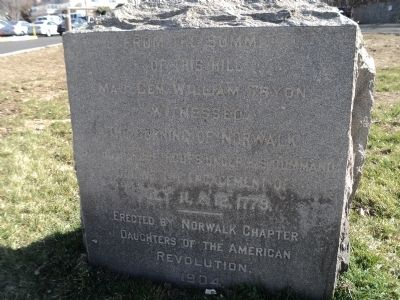 Burning of Norwalk Marker image. Click for full size.
