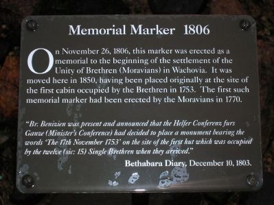 Memorial Marker 1806 Marker image. Click for full size.