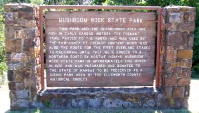 Mushroom Rock State Park Marker image. Click for full size.