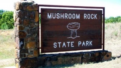 Mushroom Rock State Park Sign image. Click for full size.