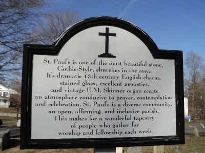 St. Paul's Church Marker image. Click for full size.