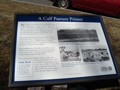 A Calf Pasture Primer Marker image. Click for full size.