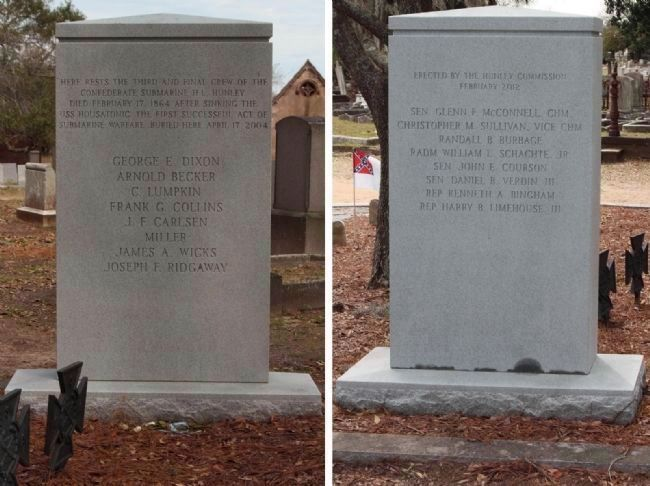 Third Crew... H. L. Hunley Memorial addition in February 2012 image. Click for full size.