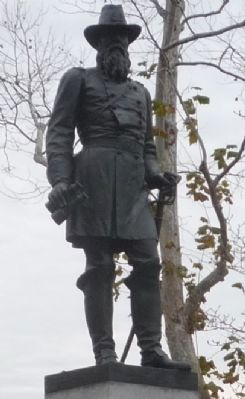 General Rawlins, close-up of statue image. Click for full size.