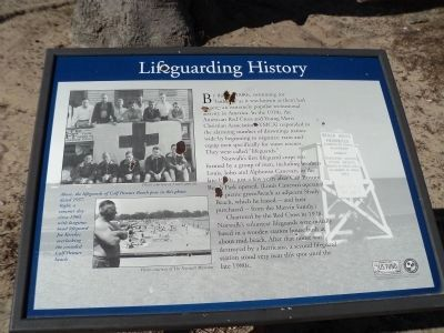 Lifeguarding History Marker image. Click for full size.