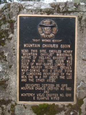 Mountain Charlies Cabin Marker image. Click for full size.
