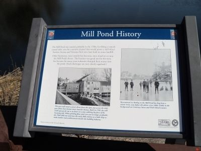 Mill Pond History Marker image. Click for full size.