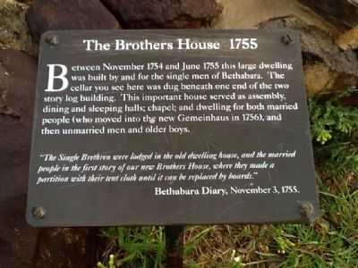 The Brothers House 1755 Marker image. Click for full size.