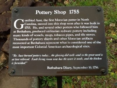 Pottery Shop 1755 Marker image. Click for full size.