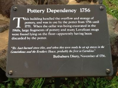 Pottery Dependency 1756 Marker image. Click for full size.