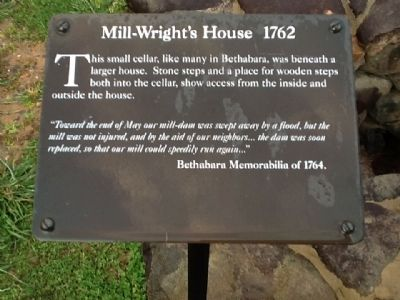 Mill-Wright's House 1762 Marker image. Click for full size.