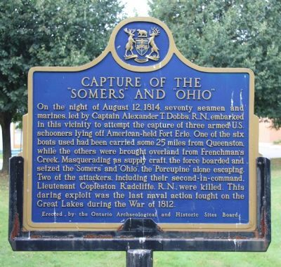 "Capture of the ""Somers"" and ""Ohio"" Marker image. Click for full size."