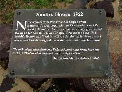Smith's House 1762 Marker image. Click for full size.