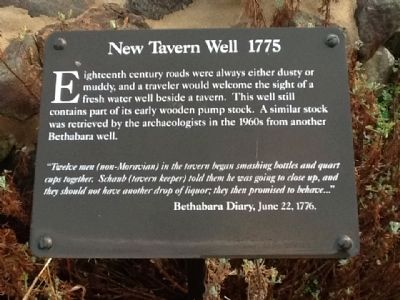 New Tavern Well 1755 Marker image. Click for full size.