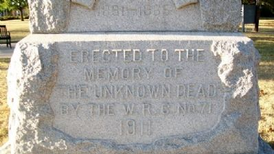 Unknown Dead of the Civil War Dedication image. Click for full size.