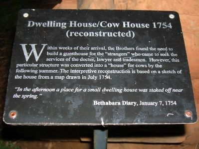 Dwelling House/Cow House 1754 Marker image. Click for full size.
