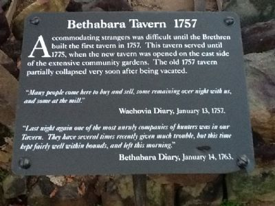 Bethabara Tavern 1757 Marker image. Click for full size.