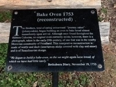Bake Oven 1753 Marker image. Click for full size.