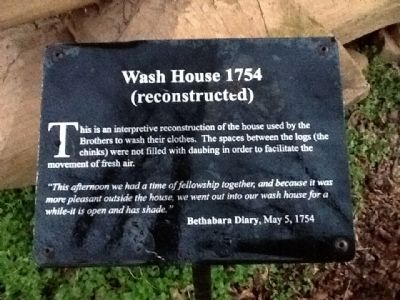Wash House 1754 Marker image. Click for full size.