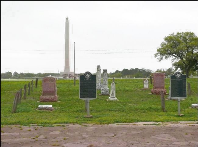 De Zavala Cemetery at De Zavala Plaza image. Click for full size.