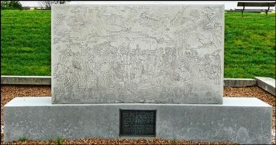 Site of Surrender of Santa Anna Engraved Monument and Marker image. Click for full size.