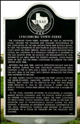 Lynchburg Town Ferry Marker image. Click for full size.