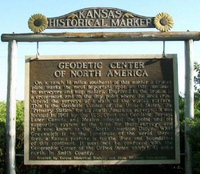 Geodetic Center of North America Marker image. Click for full size.