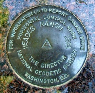 Geodetic Center of North America Disc Replica image. Click for full size.
