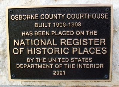 Osborne County Courthouse NRHP Marker image. Click for full size.