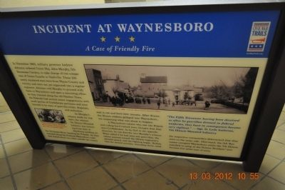 Incident at Waynesboro Marker image. Click for full size.