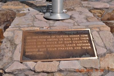 We the People of Clifton honor here image. Click for full size.