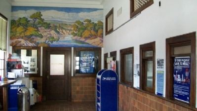 Lindsborg Post Office Interior image. Click for full size.