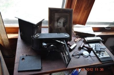 T.S. Stribling's Camera Equipment and wife image. Click for full size.