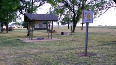 Moses Shane Memorial Park Kiosk and Markers image. Click for full size.