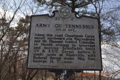 Army of Tennessee Marker image. Click for full size.