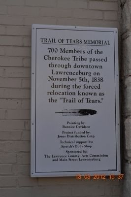 Trail of Tears Memorial Marker image. Click for full size.