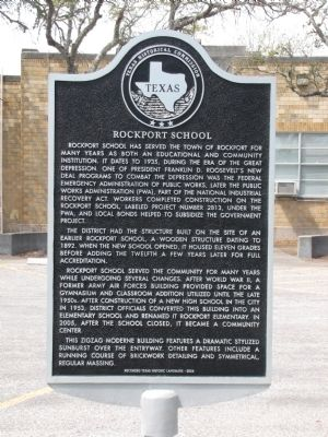 Rockport School Marker image. Click for full size.