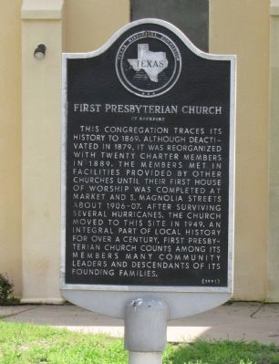 First Presbyterian Church of Rockport Marker image. Click for full size.
